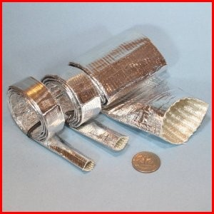 Heat Reflecting Sleeve Aluminized Pet Coated Fiberglass