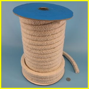 Silica rope square round twisted high temperature heat resistant