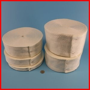 Fiberglass woven tape for gaskets and seals and thermal