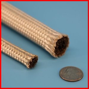 Fiberglass Heat Cleaned Rope with Metal Mesh Core High Temperature Heat Resistant