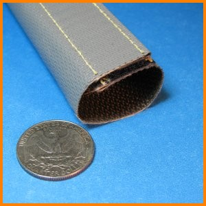 fiberglass fabric sleeve with ptfe resin coating and hook loop closure