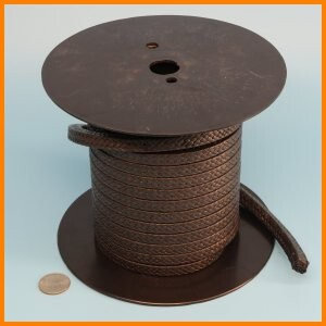 PTFE square braid packing rope with graphite impregnation