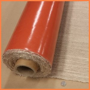 Fiberglass fabric with silicone rubber coating one side high