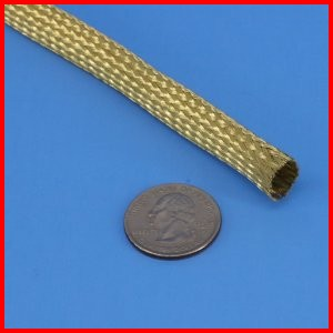 Brass Braided Sleeve wire cable hose tubing protection