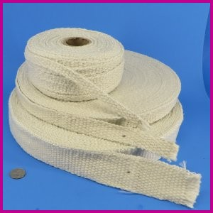 Ceramic Fiber Woven Tape Gasket Thermal Insulating