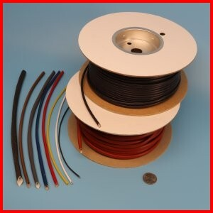 Fiberglass braided sleeve with acrylic coating high temperature heat resistant wire protection
