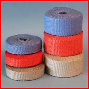 Woven fiberglass tape colored thermal insulating high temperature heat resistant