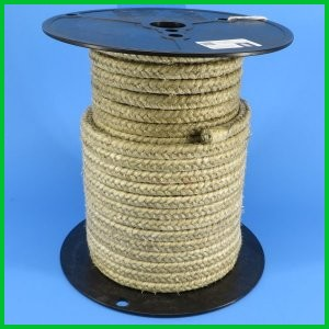 Fiberglass with Vermiculite coating Rope high temperature heat resistant round square twisted